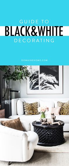 Insider tips and styling ideas for creating a beautiful and interesting black and white space.