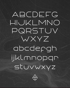 Anchor font by Michael Spitz