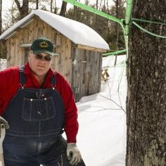 Lyle Merrifield of Gorham, the new president of the Maine Maple Producers Association, produces about 180 gallons of syrup yearly in his family-filled operation.