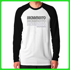 Teeburon Sacramento retro color Raglan Long Sleeve T-Shirt - Retro shirts (*Amazon Partner-Link)