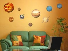Educational Solar System Planets Wall Stickers Did you know…? Our Solar System is about 4.6 billion years old and is made up of the 8 planets that orbit the Sun. These are, in order: Mercury, Venus, Earth, Mars, Jupiter, Saturn, Uranus and Neptune. In addition to these planets, there are also moons, comets, asteroids, dust, gases and minor planets such as Pluto.