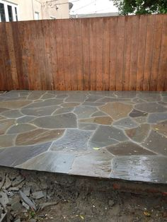 I'm loving my new flagstone patio...turned out just like the picture in my head.