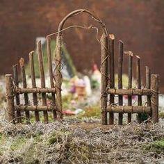 Woodland Twig Garden Entrance - Fairy Garden Miniatures - Dollhouse Miniatures - Doll Making Supplies - Craft Supplies