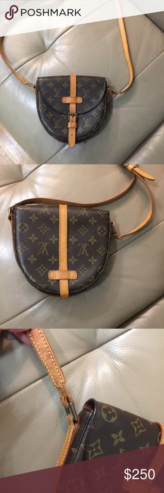Chantily PM Good condition bag minus the strap. Strap is very cracked can be used with a replacement or monogram strap. Nice honey patina clean inside. I personally never used the inside pocket but the previous owner told me it was peeling. Still a very cute bag with lots of character. Louis Vuitton Bags Crossbody Bags