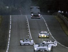 Morning warm-up, Le Mans 1999.  Approaching Mulsanne, Mark Webber's CLR takes flight.  David Hansen looked into the blow over phenomenon in depth, check out his article.