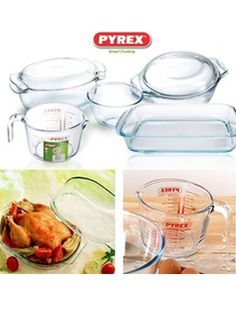 5Pcs Pyrex Cookware Set for AED 149 only. These cookware are safe for the microwave, oven and freezer.