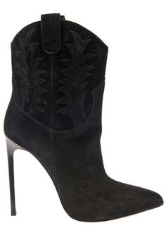 10 Chic Shoes For Now + Later - Best 2014 Pre-Fall Shoe Trends by Harper's BAZAAR: Saddle Up Saint Laurent booties, $1,368, matchesfashion.com
