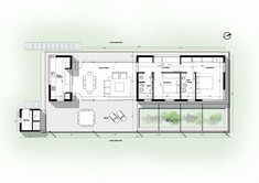 With Perfectly Delimited Internal Areas this House Offers Direct Contact with Nature Home Design Plans, Plan Design, Small House Plans, House Floor Plans, Tyni House, Architectural Floor Plans, Architectural Firm, Villa Plan, Townhouse Designs
