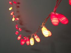 35 bulbs  Handmade Pink & White Cocoon  string lights for by ginew, $13.99