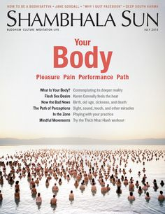 """#Shambhala Sun: This issue is all about your #body, from pleasure & pain, to performance & path: Norman Fischer contemplates the deeper reality of the body, Karen Connelly feels the heat in """"Flesh Sex Desire,"""" Thich Nhat Hanh offers three exercises from well-being, and four individuals talk sports and mindfulness."""