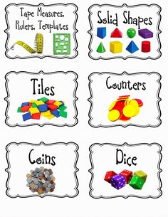 Free math labels - Surfin' Through Second: Back To Work Monday Made It Classroom Organisation, Teacher Organization, Kindergarten Classroom, School Classroom, Teaching Math, Classroom Ideas, Organizing, Classroom Management, Classroom Labels Free