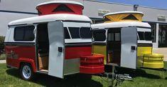 Little Trailer, Little Campers, Retro Campers, Rv Campers, Small Travel Trailers, Tiny Trailers, Camper Trailers, Pickup Camper, Vintage Caravans