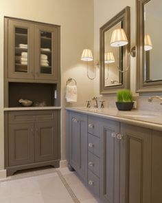 Gray bathroom cabinetry lust.
