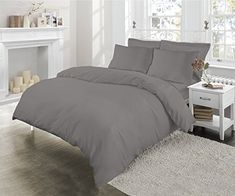 Luxury Pintuck Duvet Cover Quality T180 Percale Duvet Cover /& Pillow Cases