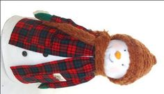 * how to make Old Fashioned Snowman [instead of using a cardboard cone, you could use empty serger thread cones!]