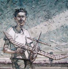 Ignacio Noé. Diez mil aviones - Acrílico sobre tela , 120cmx120cm