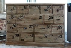 Love everything about this - the unique knobs, the numbers - can I find a piece of furniture to duplicate?