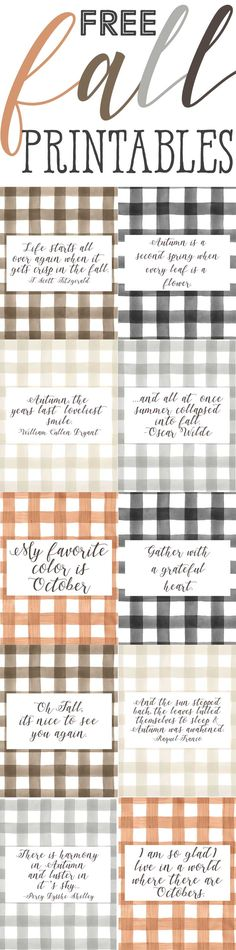 Buffalo Check Farmhouse Style Fall Printables - The Mountain View Cottage - morning craft class, Fall Home Decor, Autumn Home, Seasonal Decor, Holiday Decor, Easy Fall Crafts, Diy Crafts, Autumn Decorating, Happy Fall Y'all, Cottage