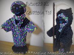 Figuren - geRIPpe Futuresta Sensenfrau Dekorationspuppe AKR8 - ein Designerstück von Karin2013 bei DaWanda