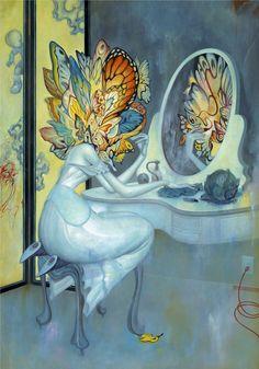 "Vanity - James Jean, Oil and Pastel on Paper, 29 x 41"", 2008"