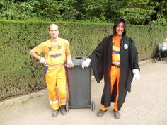 Gishwhes 2013 Team Llama-nomenal Item 12: In my town, the sanitation worker who hangs on to the back of the truck always dresses as the Velv...