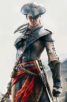 """""""I stand with those who stand with me. I lure my prey through the guise of a lady. I escape unnoticed through the veil of a slave. And though I may conceal my identity, one thing is certain: commit injustice in this world, and I'll send you to the next. I am Aveline de Grandpré, I am an Assassin, and I fight for liberation.""""      ―Aveline de Grandpré."""