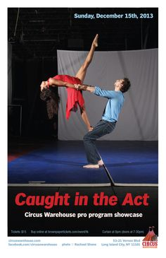 Susan Voyticky and Matt Greenfield in Caught in the Act 18 poster. Photo © Rachael Shane. — at Circus Warehouse Events.