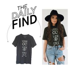 """The Daily Find: Veni Vidi Vici T-Shirt"" by polyvore-editorial ❤ liked on Polyvore featuring DailyFind"
