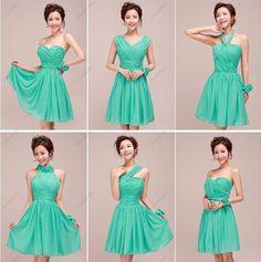 Bridesmaid Dress - Green Bridesmaid Dress / Chiffon bridesmaid Dress / Prom Dress / Short Prom Dress / Evening Dress on Etsy, $89.99