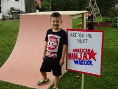 Custom Built Warp Wall And Ninja Warrior Sign