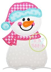 Snowman Applique - 3 Sizes!   Winter   Machine Embroidery Designs   SWAKembroidery.com The Itch 2 Stitch