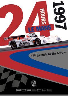 Porsche Le Mans 1997 Poster G