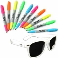 Amazon.com : Sharpie Neon Fine Point Permanent Markers 2 Pack, 10 ...