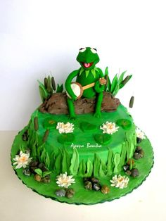 kermit the frog - Cake by souvou