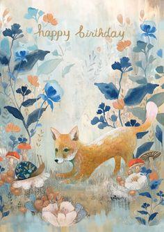 Roger la Borde Dreamland Greeting Card featuring artwork by Kendra Binney 21st Birthday Wishes, Birthday Wishes Messages, Cool Birthday Cards, Birthday Sentiments, Happy Birthday Images, Happy Birthday Greetings, Birthday Love, Animal Birthday, Birthday Postcards