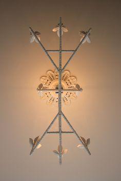 Two Tier, Eight Lamp Pendant   Anna Charlesworth