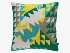 ZELMA Cotton 45 x 45cm multi-coloured, patterned cushion - HabitatUK