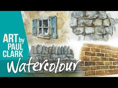 5 simple techniques for painting Walls in Watercolour - YouTube Watercolor Landscape, Watercolour, Painting Walls, Textured Walls, Simple, Artist, Youtube, Inspiration, Buildings