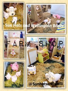 Farm shop in a Nursery class.