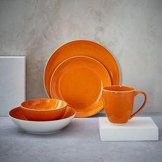 Alta Reactive Glaze Dinnerware Set - Orange