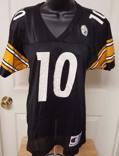 Champion Kid's Unisex Pittsburgh Steelers #10 Kordell Stewart Jersey Size M  #Champion #PittsburghSteelers