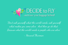 Back of postcard design for Decide to Fly Rise Event. VA Business Help, Virtual Assistant Services. Graphic Designer.