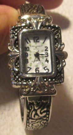 WOMEN'S VELLACCIO QUARTZ ORNATE QUALITY TWO TONE BANGLE WATCH   #vellaccio #Casual