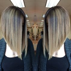 Captivating Inverted Bob Hairstyles That Can Keep You Out of Trouble. Inverted bob hairstyles have become a new trend nowadays. Cute Bob Hairstyles, Lob Hairstyle, Inverted Bob Hairstyles, Long Bob Haircuts, Trendy Haircuts, Hair Dos, Hair Lengths, Hair Trends, Hair Inspiration