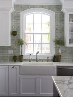 Farmhouse Kitchen Sink And backsplash