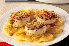 Seppie gratinate su letto di patate