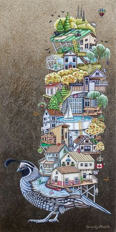Quailowna is a painting created by Brandy Masch in Find out more at Mayberry Fine Art. Canadian Art, Fine Art, Drawings, Illustration, Artwork, Painting, Work Of Art, Auguste Rodin Artwork, Painting Art