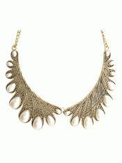 Metallic collar necklace
