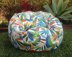 Outdoor Bean Bag, Beanbag, Birds in Paradise Indoor/Outdoor Colourful Cool Funky Adults Bean Bag, Kids Bean Bags, Birds, Flowers, Tropical by IslandHomeEmporium on Etsy https://www.etsy.com/listing/256401313/outdoor-bean-bag-beanbag-birds-in