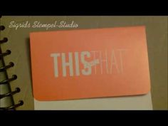 stampin up  This and That - Designeralbum